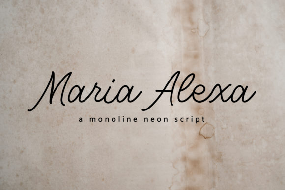 Print on Demand: Maria Alexa Script & Handwritten Font By Typia Nesia
