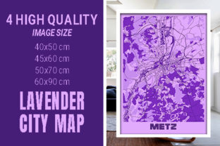Metz - France Lavender City Map Graphic Photos By pacitymap
