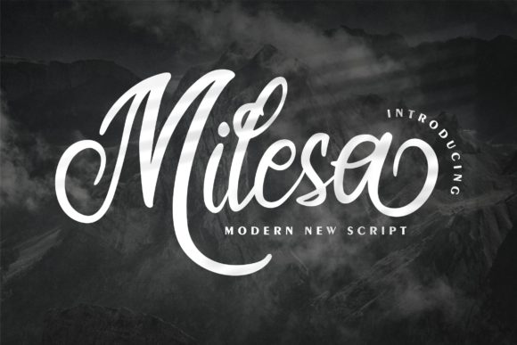 Print on Demand: Milesa Script & Handwritten Font By Vunira