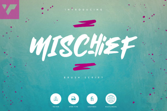 Print on Demand: Mischief Display Font By vladfedotovv