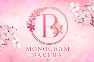 Print on Demand: Monogram Sakura Decorative Font By dmletter31