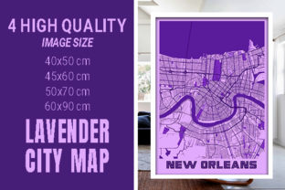 New Orleans - Louisiana Lavender City Graphic Photos By pacitymap