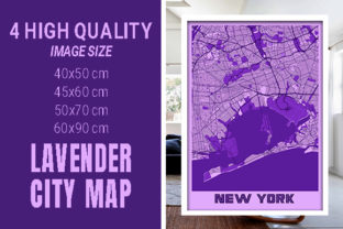 New York - United States Lavender City Graphic Photos By pacitymap