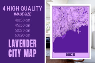 Nice - France Lavender City Map Graphic Photos By pacitymap