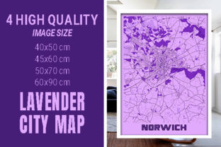 Norwich - United Kingdom Lavender City Graphic Photos By pacitymap