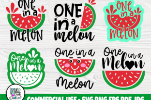 Print on Demand: One in a Melon SVG Bundle, Watermelon Graphic Crafts By nibaartstudio