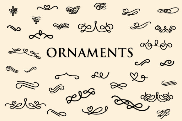 Print on Demand: Ornaments Dingbats Font By goodigital