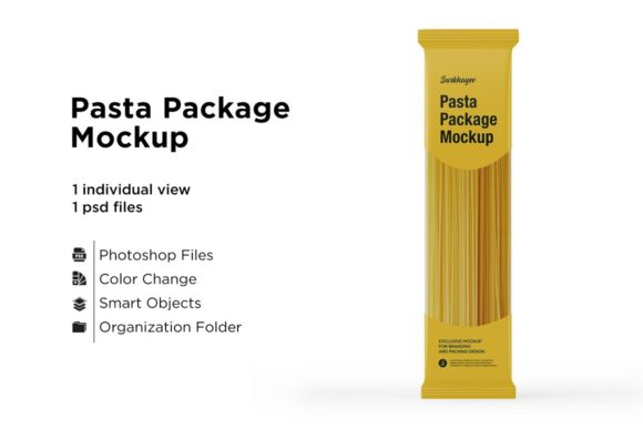 Pasta Package Mockup Graphic Product Mockups By greenart