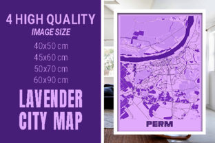 Perm - Russia Lavender City Map Graphic Photos By pacitymap