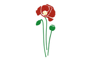 Print on Demand: Poppy Flower and Poppy Heads Wedding Flowers Embroidery Design By EmbArt