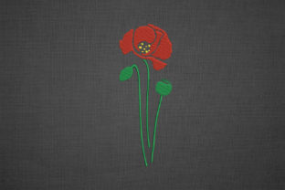 Print on Demand: Poppy Flower and Poppy Heads Wedding Flowers Embroidery Design By EmbArt 3