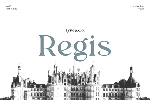 Print on Demand: Regis Serif Font By Type and Co.
