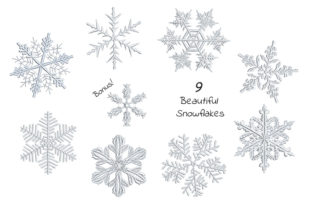 Print on Demand: Set of Beautiful Snowflakes Winter Embroidery Design By EmbArt