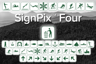 Print on Demand: SignPix Four Dingbats Font By Harris Design