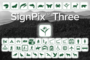 Print on Demand: SignPix Three Dingbats Font By Harris Design