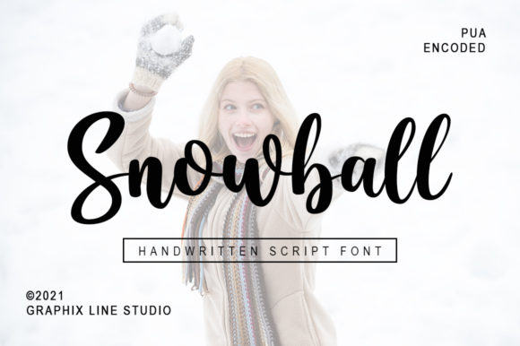 Print on Demand: Snowball Manuscrita Fuente Por Graphix Line Studio