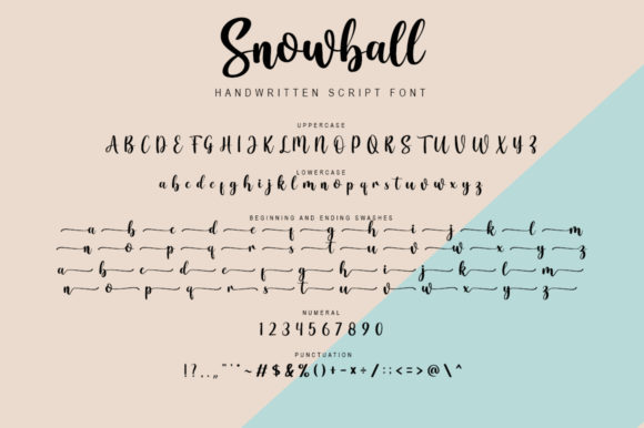 Snowball Font Preview