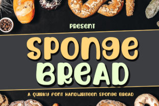 Print on Demand: Sponge Bread Display Schriftarten von edwar.sp111