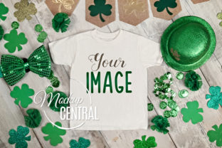 St. Patrick's Day T-Shirt Mockup Flatlay Graphic Product Mockups By Mockup Central