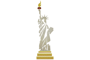 Statue of Liberty North America Embroidery Design By Digital Creations Art Studio