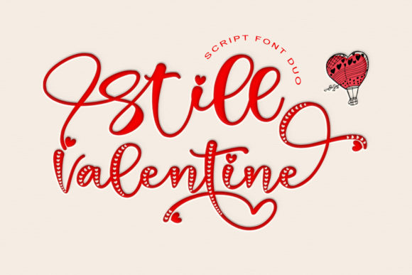 Print on Demand: Still Valentine Script & Handwritten Font By thomasaradea