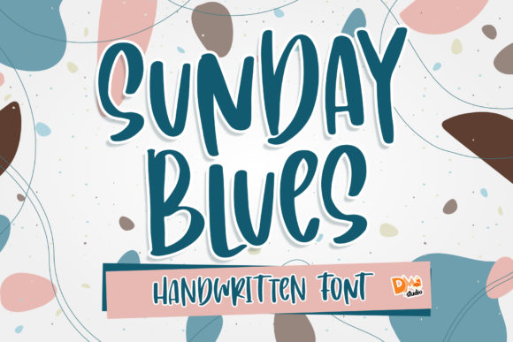 Print on Demand: Sunday Blues Display Font By dmletter31
