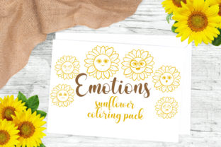 Sunflower Coloring Pack Graphic Crafts By Firefly Designs