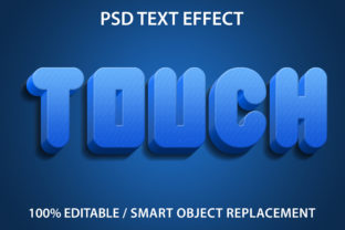 Text Effect Blue Touch Premium Graphic Graphic Templates By yosiduck