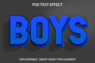 Text Effect Boys Premium Graphic Graphic Templates By yosiduck