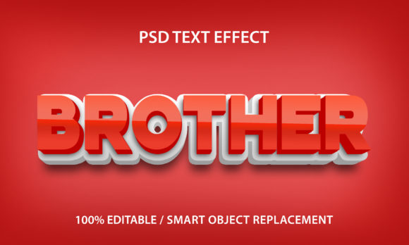 Text Effect Brother Premium Graphic Graphic Templates By yosiduck