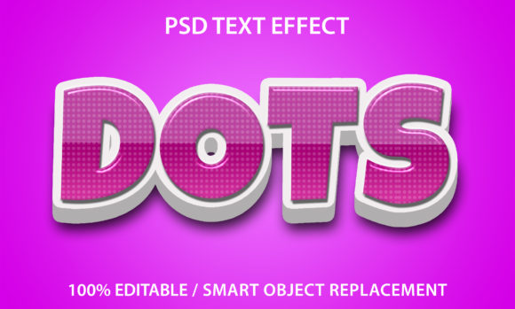 Text Effect Dots Premium Graphic Graphic Templates By yosiduck
