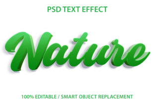 Text Effect Green Nature Premium Graphic Graphic Templates By yosiduck
