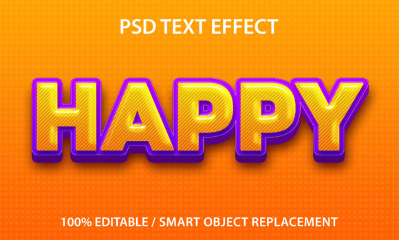 Text Effect Happy Premium Graphic Graphic Templates By yosiduck