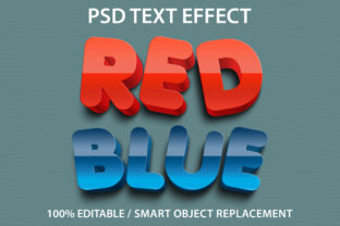 Text Effect Red and Blue Premium Grafik Grafik-Templates von yosiduck