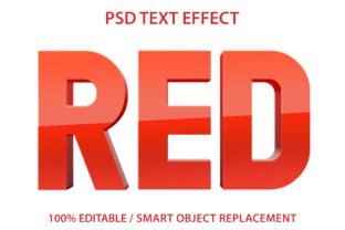 Text Effect Red Premium Grafik Grafik-Templates von yosiduck
