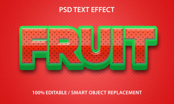 Text Effect Strawberry Fruit Premium Graphic Graphic Templates By yosiduck