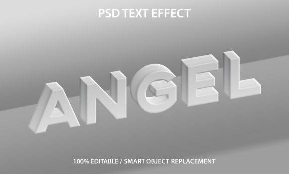 Text Effect White Angel Premium Graphic Graphic Templates By yosiduck
