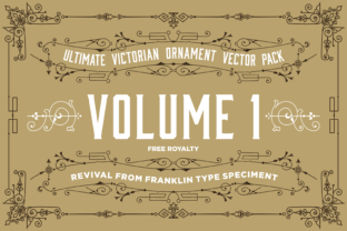 The Ultimate Victorian Ornament Graphic Illustrations By Veteran Type Co