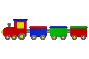 Toy Train Toys & Games Embroidery Design By Digital Creations Art Studio