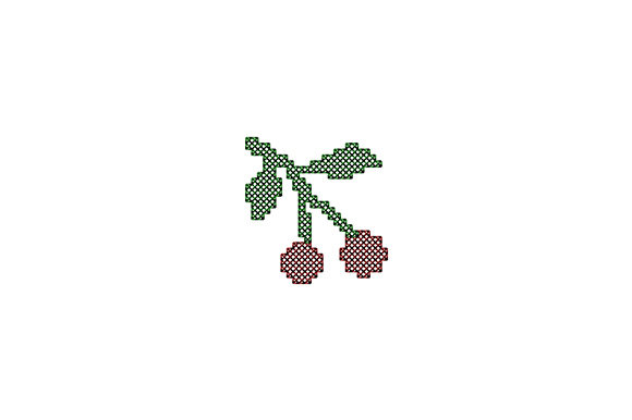 Print on Demand: Two Delicious Cherries Food & Dining Embroidery Design By EmbArt
