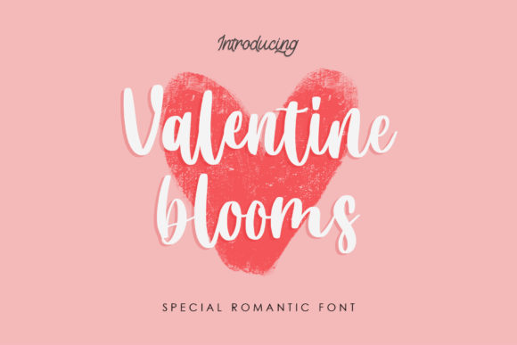 Print on Demand: Valentine Blooms Script & Handwritten Font By RochArt