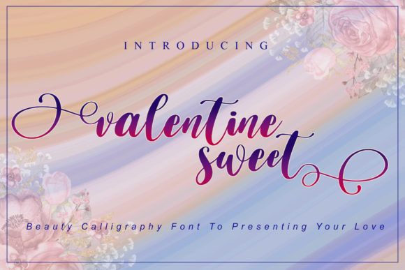Print on Demand: Valentine Sweet Script & Handwritten Font By noftanti