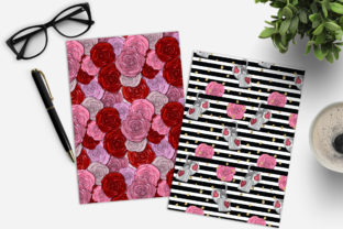 Print on Demand: Valentine's Day Digital Paper Pack Graphic Patterns By TheGGShop 2