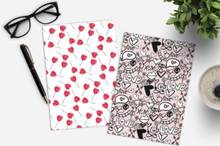 Print on Demand: Valentine's Day Digital Paper Pack Graphic Patterns By TheGGShop 6