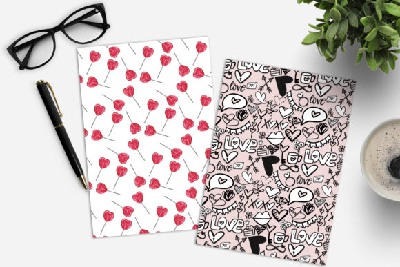Valentine's Day Digital Paper Pack Graphic Image