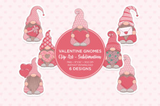 Print on Demand: Valentine's Day Gnome Sublimation Graphic Illustrations By Sgt.Ruthless