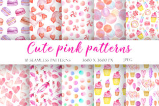 Print on Demand: Watercolor Seamless Patterns Valentine's Graphic Illustrations By TanyaPrintDesign