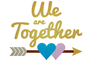 Print on Demand: We Are Together Logo Wedding Embroidery Design By embroidery dp