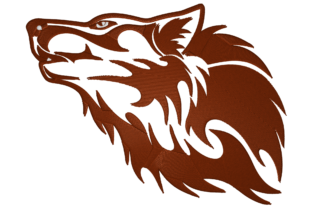 Print on Demand: Wolf Wild Animals Embroidery Design By embroidery dp