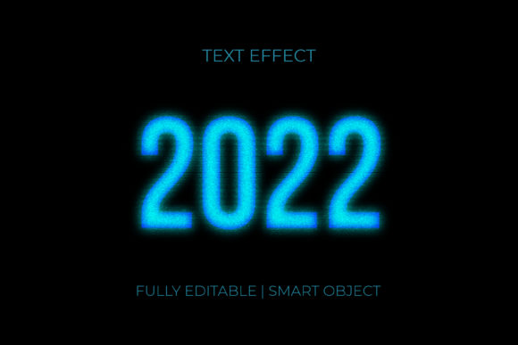2022 Glitch Text Effect Graphic Graphic Templates By GraphicHut